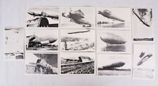 Vintage Lot of 12 German Postcards, Zeppelin Luftschiff Blimps, Set