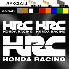 set adesivi sticker HRC honda prespaziato,auto,decal moto,casco 19,5cm / 9,5cm