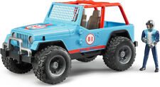 BRUDER 1:16 JEEP WRANGLER CON PILOTA BLU CROSS COUNTRY BLUE  ART 02541
