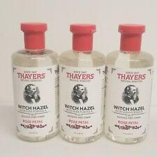 Thayers Witch Hazel Facial Toner, Aloe Vera,Rose Petal 12oz x 3 bottles