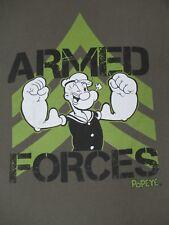 POPEYE - ARMED FORCES - GREEN MEDIUM T-SHIRT Q452