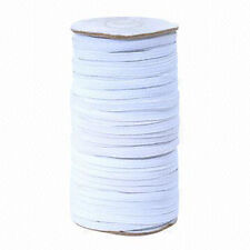 6mm SEWING STITCHING ELASTIC Premium Grade White 6 Cord Flat Corded 1/4Inch WIDE