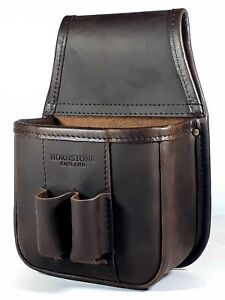 Shotgun Cartridge Pouch  Vintage Brown Distressed Leather (pouch only)