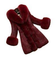 Women's Winter Faux Rabbit Fur Fox Fur Collar Coats Overcoat Warm Fashion Jacket