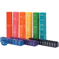 Fraction Tower Equivalency Maths Cubes - Learn Fractions, Percentages & Decimals