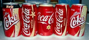 Collectable Coca Cola cans:  Set of 5 assorted Vanilla Coke 375ml cans