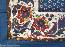 Souleiado French Country Provence Blue Floral SMALL TABLECLOTH / SCARF Gift New