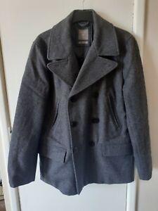 Gap Men's Heavy Outdoor Woollen Coat, Size M, BLU372