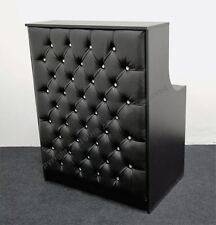 SALON RECEPTION DESK IN BLACK,PADDED FRONT ,NEW HIGH QUALIT,SPA BEAUTY,HAIR