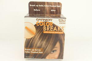 2 PACK GARNIER COLOR BREAKS Kit No 3 Medium to Dark Brown U16C