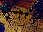 Old SALVAGE Wood Burning Stove Grapevine Decoration CAST IRON Ornamental Grate