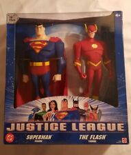 "MATTEL 10"" Justice League Figures SUPERMAN & THE FLASH FIGURE (2003) NEW/SEALED!"