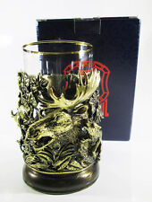 Traditional Tea Glass Holder podstakannik Hunting for elk + Glass #26