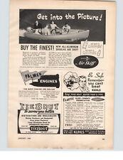 1949 PAPER AD All Aluminum Douglas Air Skiff Motor Boat 10' 14'