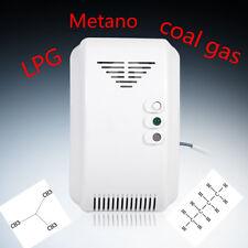 Rilevatore Fughe Di Gas Metano Propano Butano Acustico Allarme Sensore Digitale