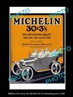 OLD LARGE HISTORIC PHOTO OF MILLTOWN NEW JERSEY, THE MICHELIN TIRE POSTER c1920