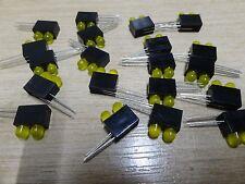 20 Marl 110-511-01 DOPPIO / 2 GANG GIALLO 5mm led ad angolo retto pcb