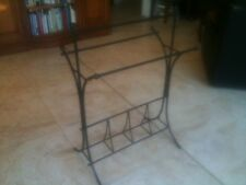 FRENCH STYLE WROUGHT IRON TOWEL RACK 600mm WIDTH w/ SHOE / ROLLED TOWEL STORAGE