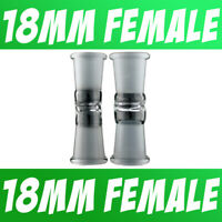 Scientific Lab Glass Adapter Fitting 18mm Female to 18mm Female