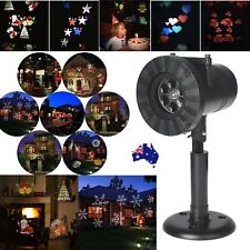 12 Patterns Laser Projector LED Light Waterproof Moving Christmas Xmas Party AU