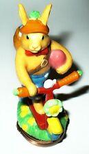 Halcyon Days Enamel Box - Easter Bonbonniere - Bunny & Scooter - Rabbit ~ Mib
