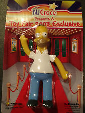 SIMPSONS BENDABLE HOMER FROM THE 2003 TOY FAIR EXCLUSIVE