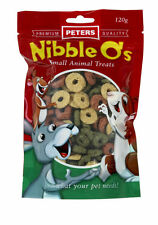 Rabbits Treats food-Guinea Pigs, Mice and Rats- Peters Nibble O's Treat 6 X120 g