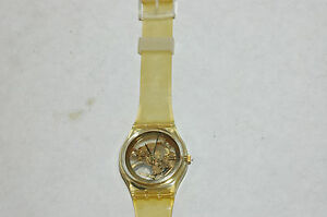 SWATCH Golden Jelly GZ115 AG 1990  Swatch Watch  Authentic
