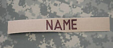 CUSTOM DESERT NAME TAPE, NEW, WITH BROWN LETTERING, SEW ON