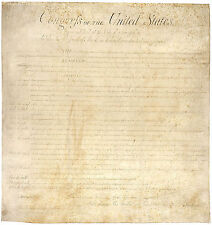 """United States of America Bill of Rights 1789 Historical -17""""x22"""" Art Print-00206"""