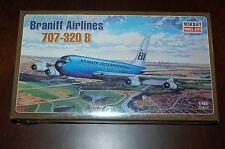 Minicraft 1:144 Braniff 707-320B Model Airplane Kit #14502 NIB Factory Sealed