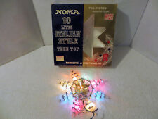 Vintage Noma Tree Top Star Italian Style 10 Multi-Colored Lights #1360 Works
