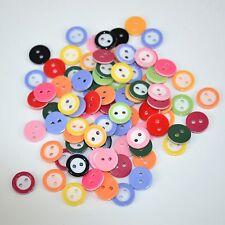 lot 50 boutons 11 mm multicolor melange 2 trou couture mercerie scrapbooking