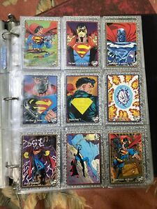 "1993 SKYBOX ""THE RETURN OF SUPERMAN"" COMPLETE TRADING CARD SET DC - NM"