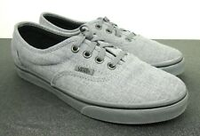 Van's Off The Wall Gray Fabric Unisex Sneakers Tennis Shoes Mens 5.0 Womens 6.5
