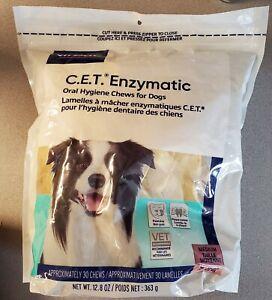 Virbac C.E.T. Enzymatic Oral Hygiene Chews (30) Medium for Dogs exp12/22