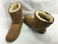 UGG Women's Classic Short Sheepskin Mid-Calf Boots 5825 in Chestnut Size 8