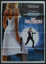 manifesto 2FG JAMES BOND 007  ZONA PERICOLO  TIMOTHY DALTON