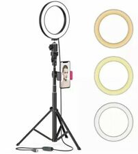 "8"" Led Selfie Ring Light For Live Stream/Makeup/Youtube Video, Dimmable Beauty R"