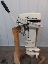 Johnson 15 HP LS Tiller Outboard Motor Boat Engine 9.9 10 18 20 25 Manual Start