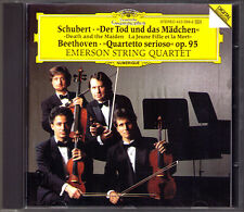 Emerson String Quartet: Schubert la morte e la ragazza Beethoven op.95 DG CD