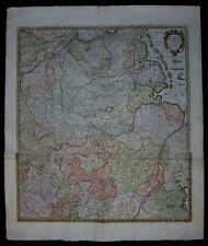 1698 Original Antique Map North Sea Westfalen Emden Lower Saxony Frisian Germany