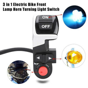 3 in 1 DIY Scooter E-bike Front Lamp Horn Turning Signal Light Bicycle Switch