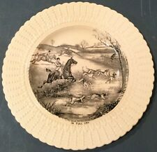 Fox Hunt Hunting Royal Cauldon Plate Black and White In Full Cry