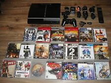 SONY PLAYSTATION 3 PS3 FAT 80GB CONSOLE 20+ GAMES - CONTROLER - Camera - CECHL01