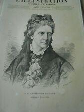 L'Impératrice de Russie décédé portrait Gravure 1880