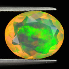 1.53 Carats 10x8mm Natural Multi Color Rainbow OPAL for Jewelry Setting Oval