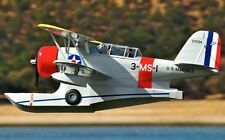"Grumman J2F-6 Duck 58"" WS Scratch Build r/c Avion Plans & Patterns"