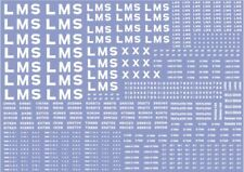 More details for modelmaster lm301 lms wagon lettering & numbers decals / waterslide transfers