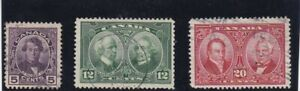 Canada Used 1927,#146-148 Historical Issue